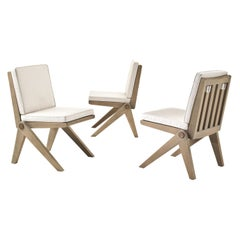 Glade Chair in Solid Sassafrass with Seat and Back Cushion and Metal Details