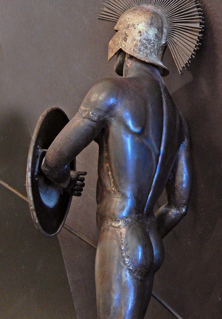 Welded Gladiator and Jester, Brutalist Sculptures in Mixed Metal, 1966-1967 For Sale