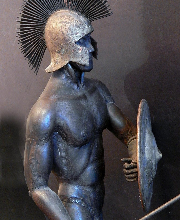 Gladiator and Jester, Brutalist Sculptures in Mixed Metal, 1966-1967 In Good Condition For Sale In Philadelphia, PA
