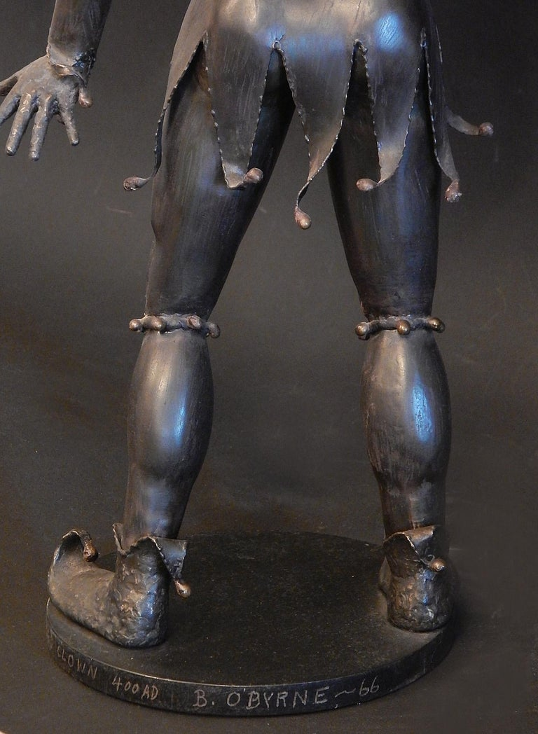Gladiator and Jester, Brutalist Sculptures in Mixed Metal, 1966-1967 For Sale 2