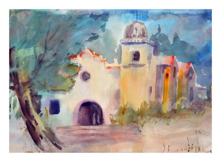 Gladys Louise Bowman Fies Landscape Painting - The Coastal Mission