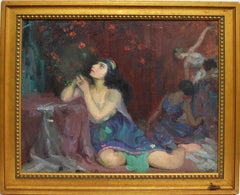 Impressionist Figures Dancing by Gladys Nelson Smith