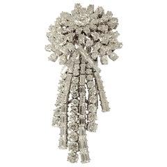 Glamorous 1960 Diamond Cascade Brooch