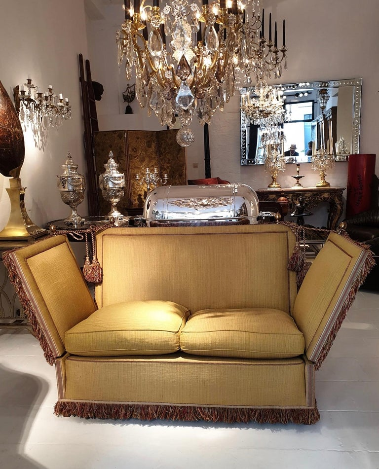 Glamorous Classic Hollywood Regency Knole Sofa For Sale 6