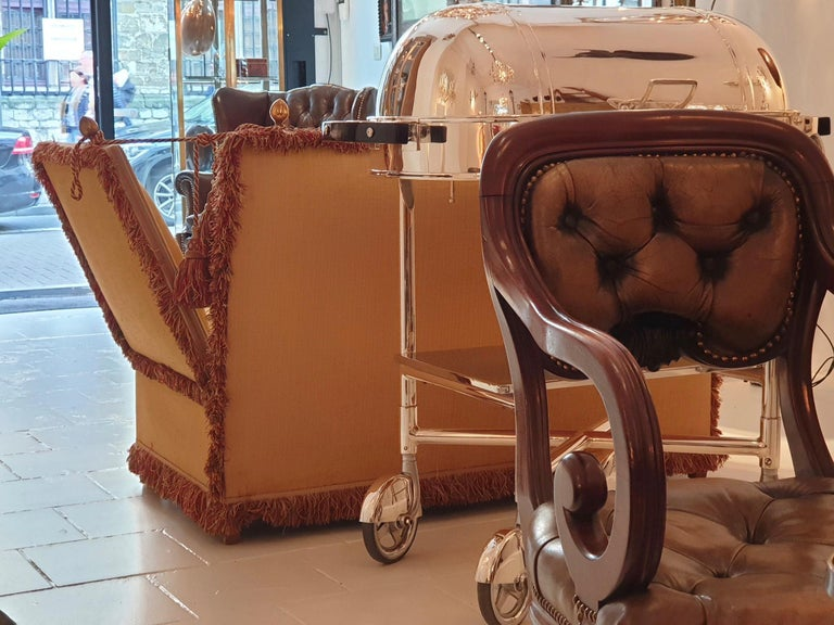 Glamorous Classic Hollywood Regency Knole Sofa For Sale 7