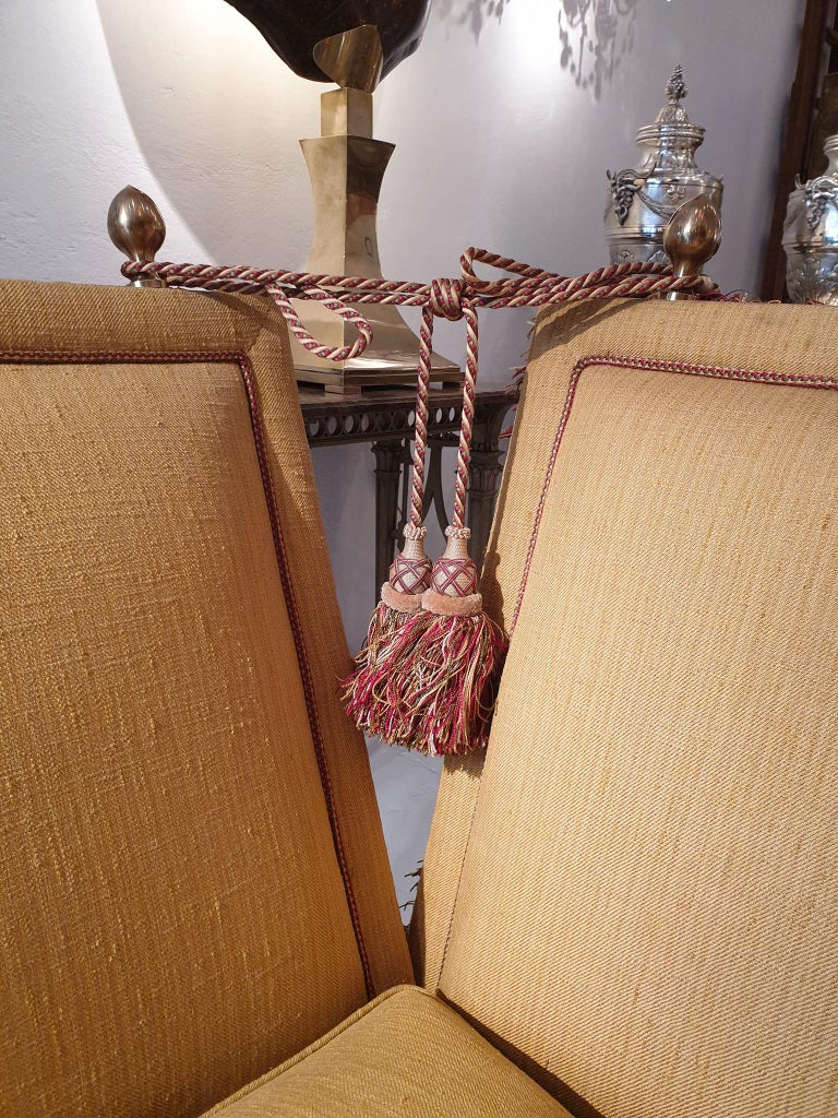Glamorous Classic Hollywood Regency Knole Sofa For Sale 8
