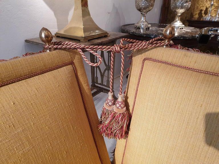 Glamorous Classic Hollywood Regency Knole Sofa For Sale 9