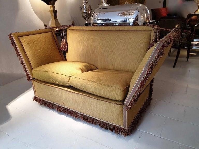 British Glamorous Classic Hollywood Regency Knole Sofa For Sale
