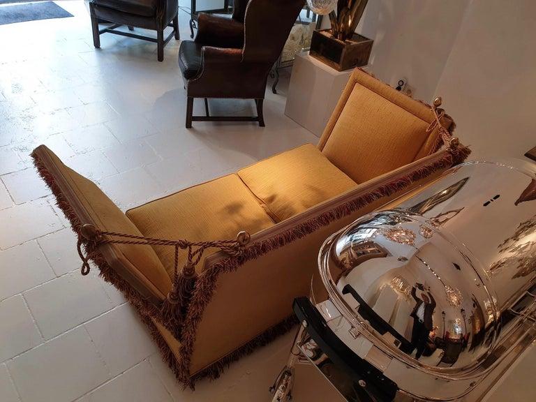 Glamorous Classic Hollywood Regency Knole Sofa For Sale 1