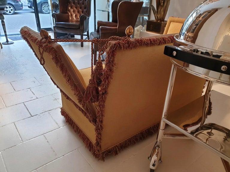 Glamorous Classic Hollywood Regency Knole Sofa For Sale 2