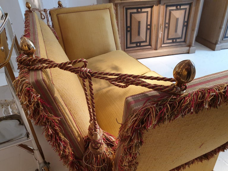 Glamorous Classic Hollywood Regency Knole Sofa For Sale 3