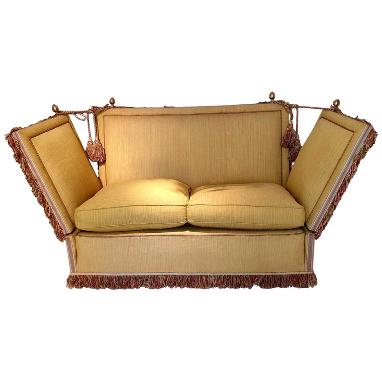 Glamorous Classic Hollywood Regency Knole Sofa For Sale