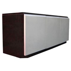 Glamorous Iridescent Lacquered Credenza by Roger Rougier