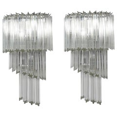 Glamorous Italian Glass Sconces by Camer