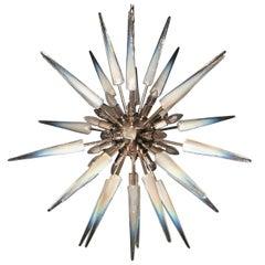 Glamorous Italian Murano Glass Sputnik Fixture