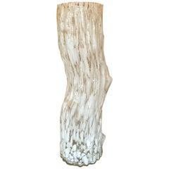 Glamorous Murano Faux Bois Style Very Large Elongated Vase