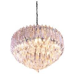 1960 Germany Palwa Glamorous Chandelier Crystal Prism & Gilt-Brass