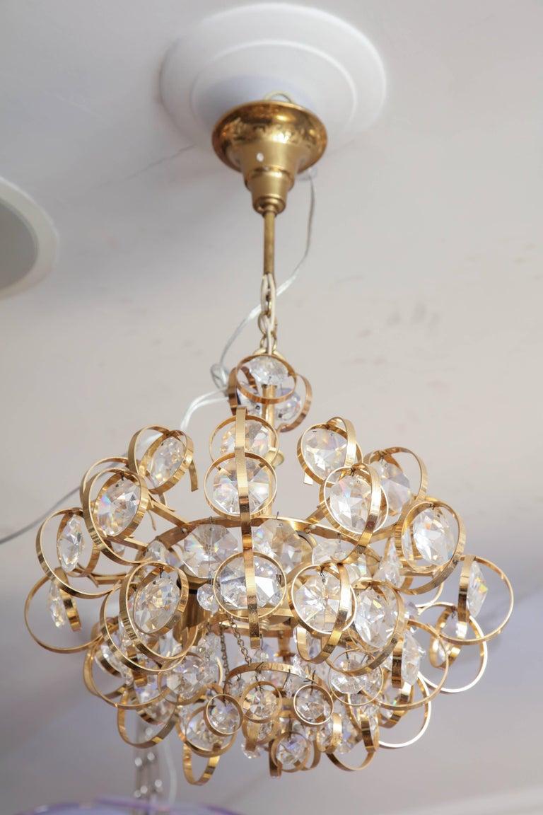 Mid-Century Modern Glamorous Petite Vintage Palwa Chandelier For Sale
