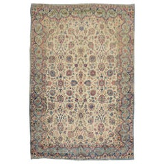 Glamorous Royal Persian Kerman Floral Rug