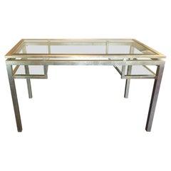 Glamorous Silverleaf & Bevelled Glass Writing Desk
