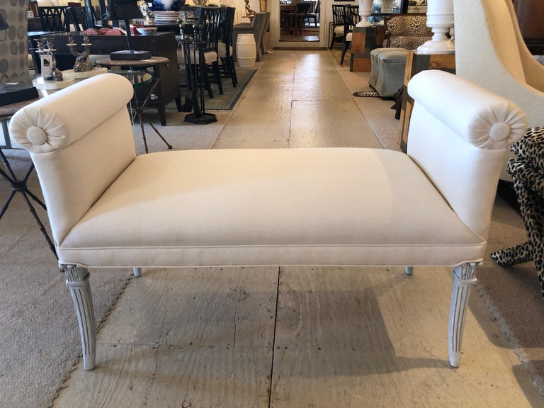 Mid-20th Century Glamorous Vintage French Upholstered Window Bench For Sale