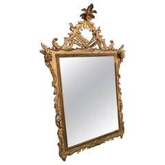 Glamorous Vintage Hollywood Regency Gilt Gold Mirror
