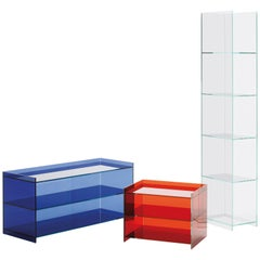 Glas Italia Dr Jekyll and Mr Hyde DJMH02 Storage Unit in Glass, by Piero Lissoni