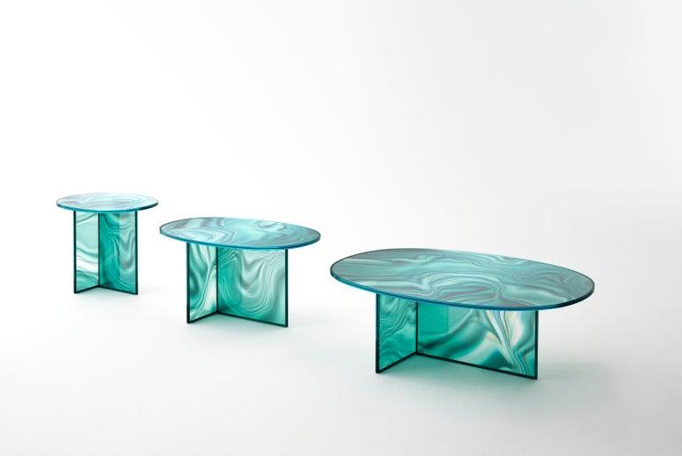 Italian Glas Italia Liquefy Coffee Tables Designed by Patricia Urquiola For Sale