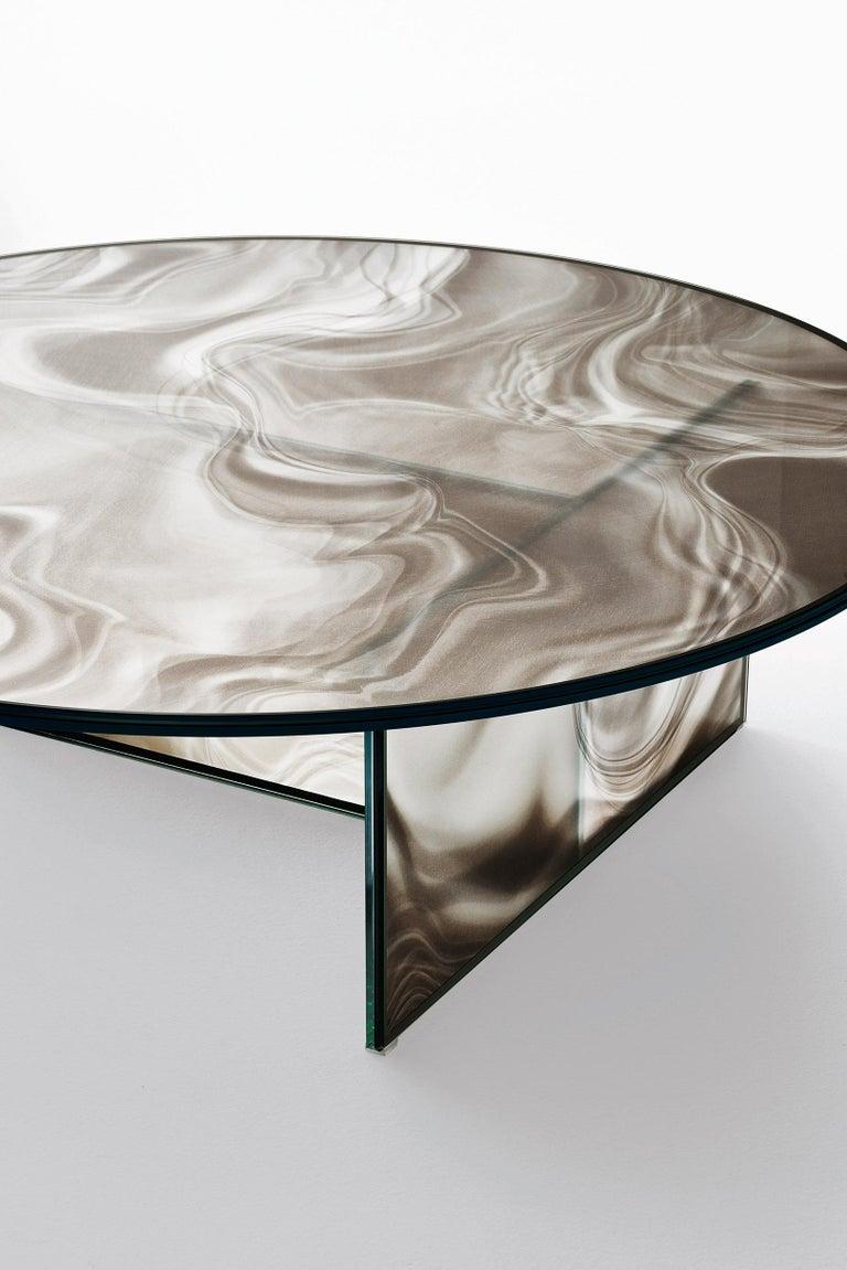 Contemporary Glas Italia Liquefy Coffee Tables Designed by Patricia Urquiola For Sale