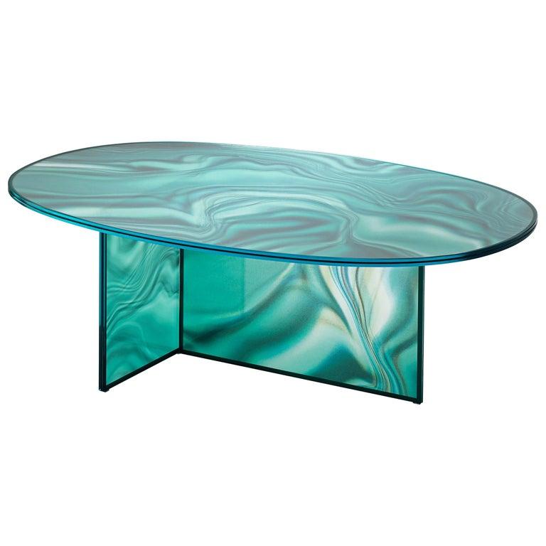 Glas Italia Liquefy Coffee Tables Designed by Patricia Urquiola For Sale