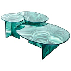 Glas Italia Liquefy Set of Coffee Tables Designed by Patricia Urquiola