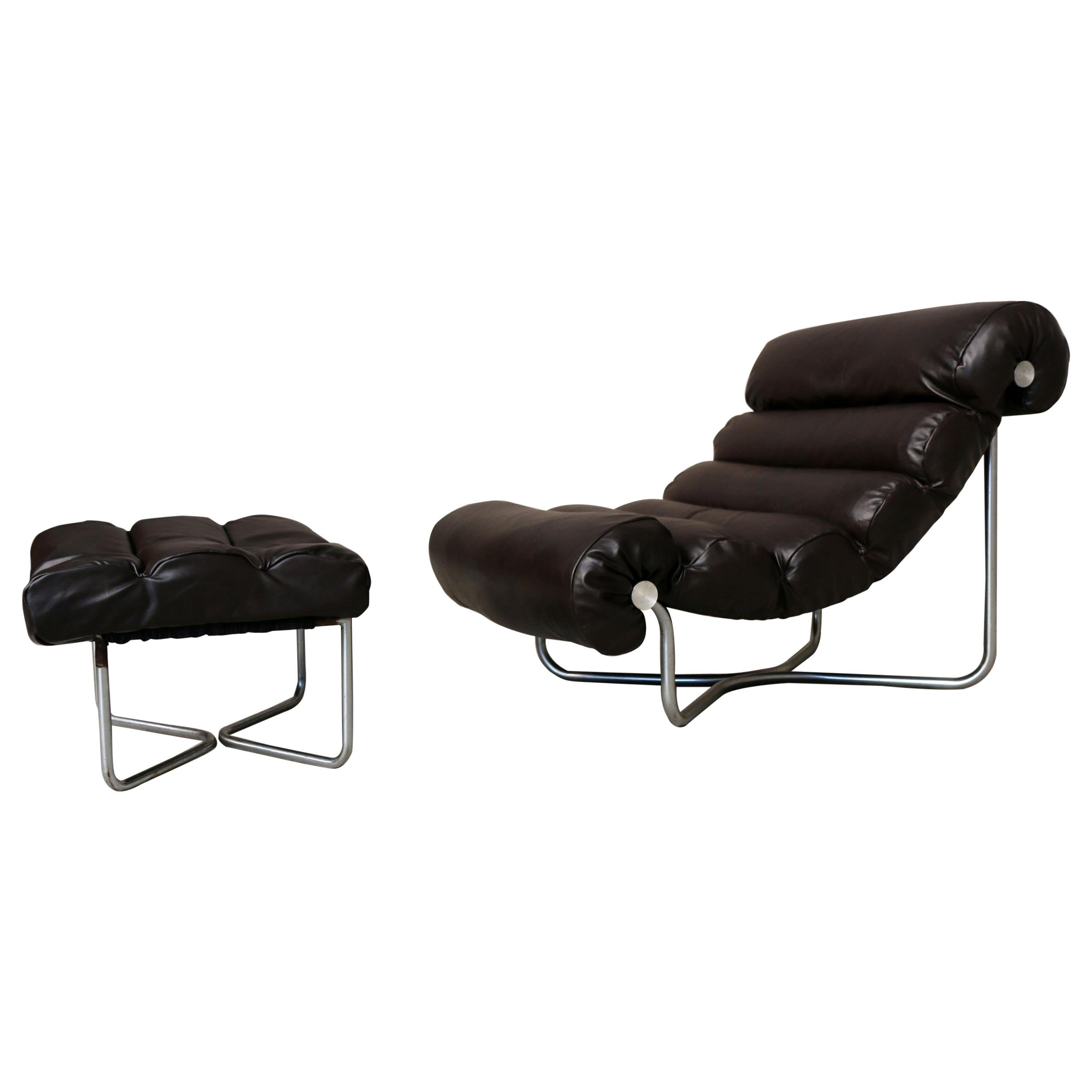 Lounge Stoel Met Hocker.Glasgow Lounge Chair With Ottoman By Georges Van Rijck For