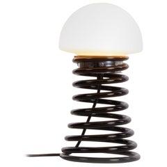1960 Germany Limburg Table Light 'Spirale' Murano Glass Black & White