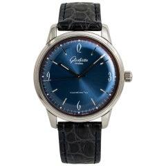 Glashutte 1960s 1-39-52-06-02-04 Men's Automatic Watch SS Blue Dial