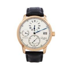 Glashutte Chronometer Regulator 18 Karat Rose Gold 1-58-04-04-05-04 Wristwatch