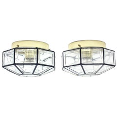 Glashütte Limburg Flush Mount Lamps, Set of 2