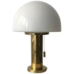 Glashütte Limburg Mushroom Table Lamp, Germany, 1970s