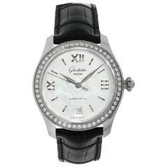 Glashutte Original Serenade Diamond Bezel Steel Lady Watch