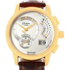 Glashutte PanoGraph Manual 18 Karat Yellow Gold Watch 61-03-25-15-04