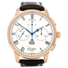 Glashutte Senator Chronograph W13701010530 Men's Rose Gold Watch