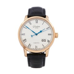 Glashutte Senator Panorama 18k Rose Gold 100-03-32-45-04 Wristwatch