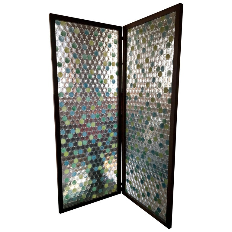 Glass 2 Panel Screen For Sale