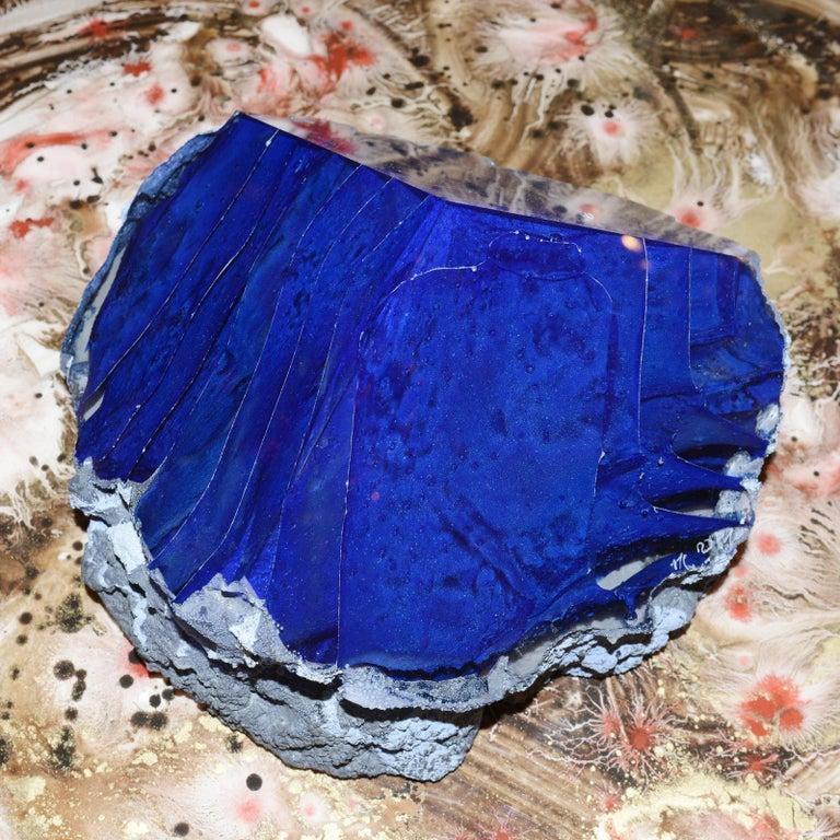 Glas Alchemy Rotes und Blaues Set aus Zwei Skulpturen 5