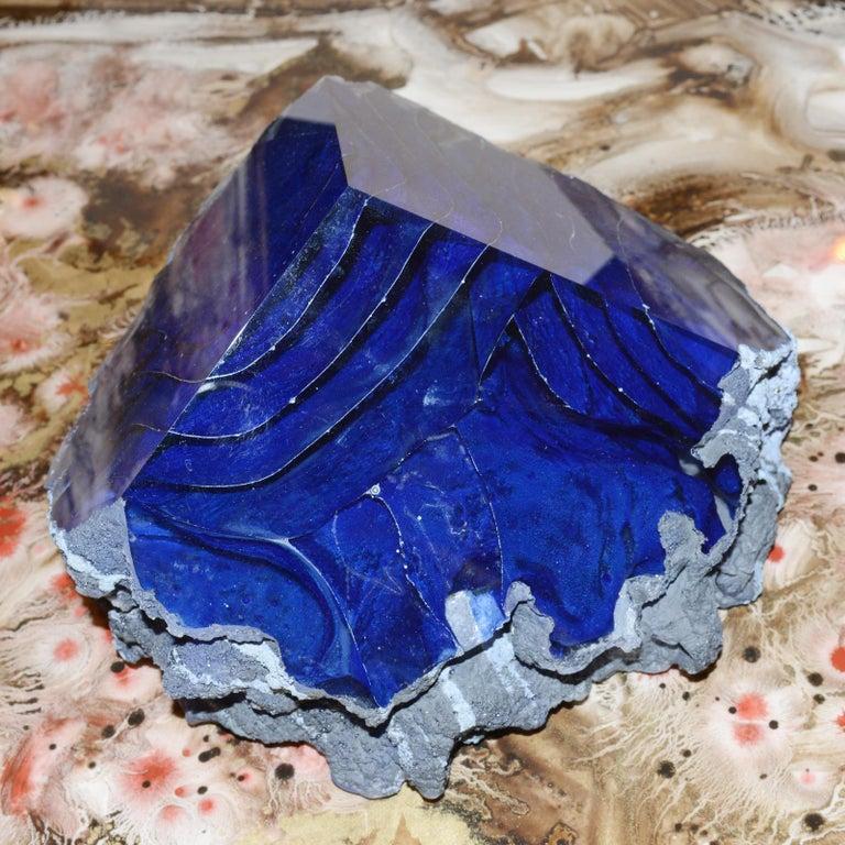 Glas Alchemy Rotes und Blaues Set aus Zwei Skulpturen 6