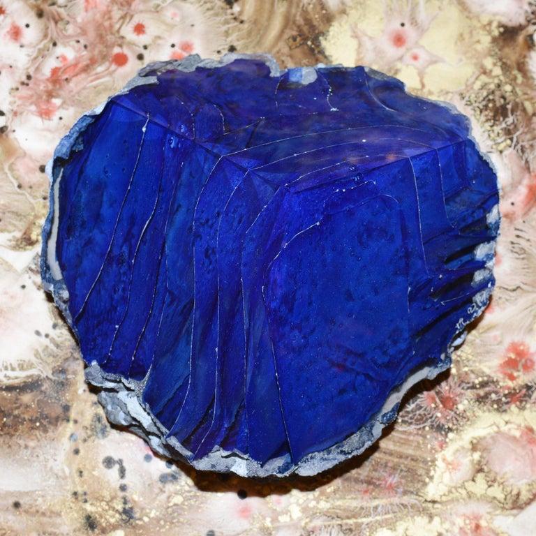 Glas Alchemy Rotes und Blaues Set aus Zwei Skulpturen 7