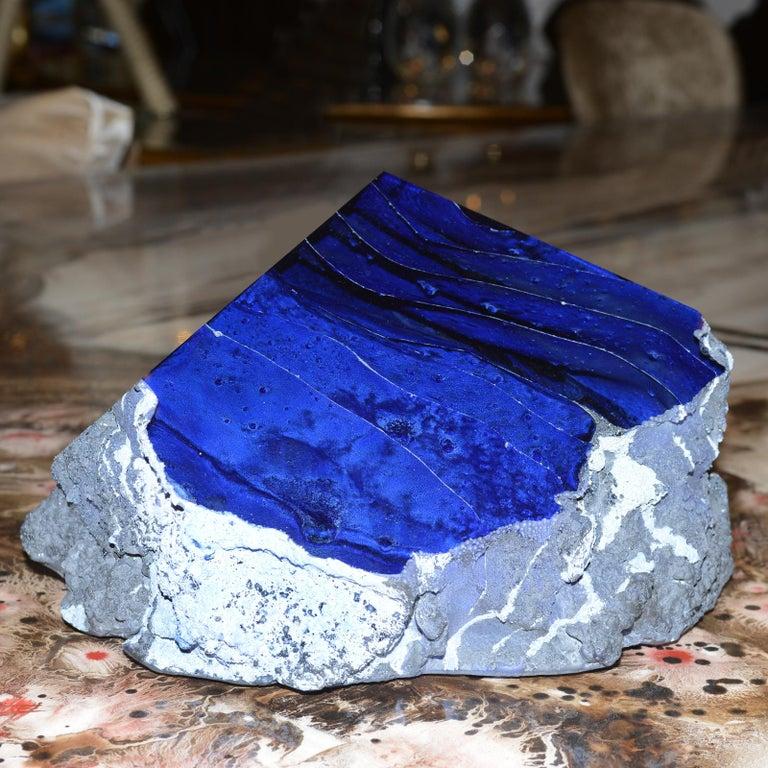 Glas Alchemy Rotes und Blaues Set aus Zwei Skulpturen 8