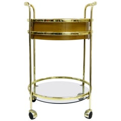 Glass and Brass Bar Cart, 1980s