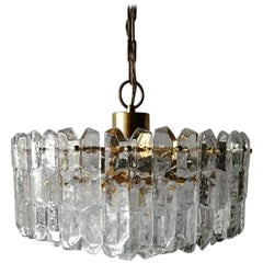 Glass and Brass Chandelier Palazzo by J. T. Kalmar, FRANKEN KG, 1970s, Austria