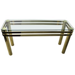 Glass and Brass Console