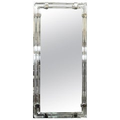 Glass and Chrome Tubular Mirror